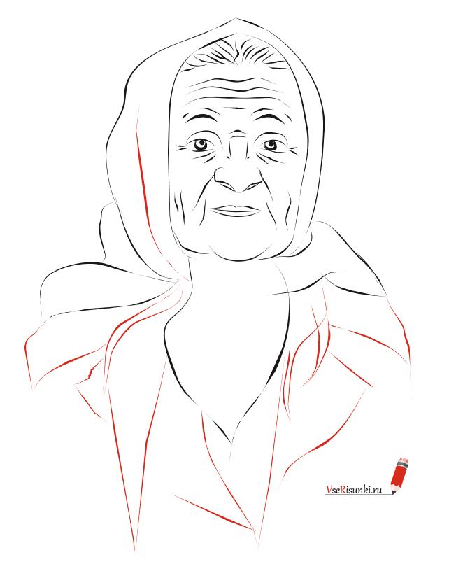 Поздравления днем, как нарисовать картинку бабушки